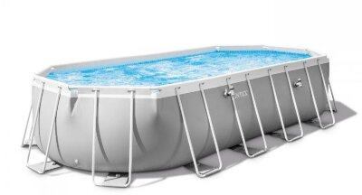 Каркасный бассейн  Prism Frame Pool Oval (ромб) 610 х 305 х 122см, Intex 26798